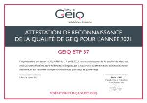 Label GEIQ BTP 37
